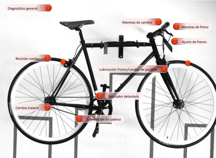 reparación bicicletas Valencia en 24 horas