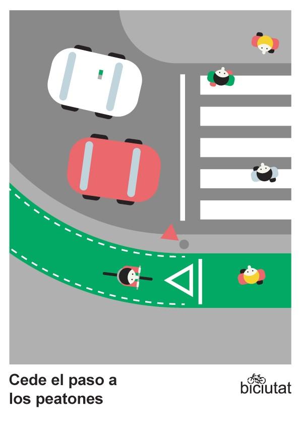 Cede el paso a los peatones