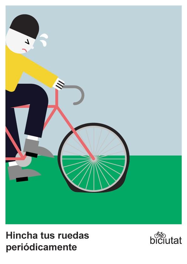 Hincha tus ruedas periódicamente