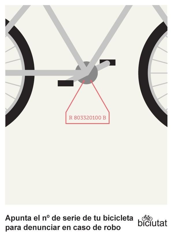 Apunta el número de serie de tu bicicleta para denunciar en caso de robo