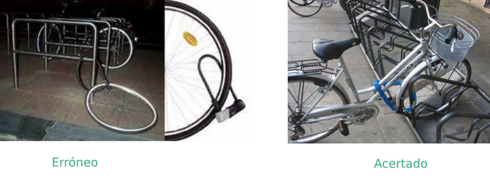 cómo candar la bici correctamente